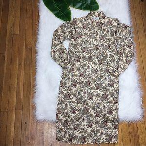 ✨vintage✨ paisley petite shirtdress size 6 EUC